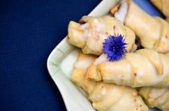 Croissants helados Imágenes de archivo libres de regalías