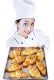 El Croissant está listo Imagenes de archivo