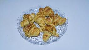 Croissants. Homemade croissants, real italian style Stock Photos
