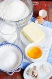 Croissants ingredients Stock Photos