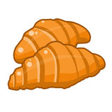 Croissants  isolated illustration Royalty Free Stock Photography