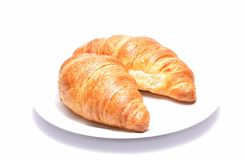 Croissants isolated on white background Stock Photo