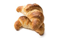 Croissants isolated on white background Royalty Free Stock Images