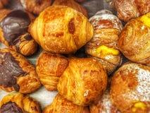 Croissants. Italian breakfast sweets Stock Photos