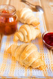 Croissants with jam Stock Image