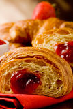 Croissants with marmelade Royalty Free Stock Photography