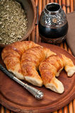 Croissants and Mate royalty free stock photo