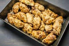 Croissants met amandelen royalty-vrije stock afbeelding