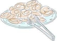Croissants op een plaat Royalty-vrije Stock Fotografie