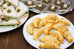 Croissants and other appetizers Stock Photo