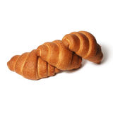 Croissants over white Royalty Free Stock Photo