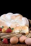 Croissants, pan y huevos fotos de archivo libres de regalías