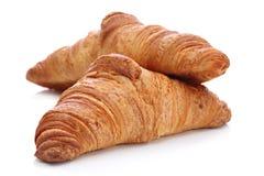 Croissants, pasteles franceses tradicionales Fotos de archivo