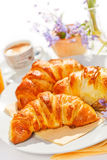 Croissants on plate Royalty Free Stock Photography