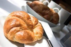 Croissants por la mañana Fotografía de archivo