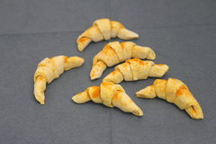 Croissants. Some homemade croissants with cinnamon stock images