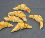 Croissants. Some homemade croissants with cinnamon stock image