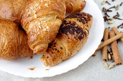 Croissants and spice Royalty Free Stock Photo