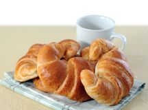 Croissants on table for breakfast Royalty Free Stock Photography