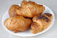 croissants talerz Zdjęcia Stock