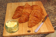 Croissants for tea Stock Photo