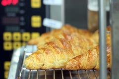 Croissants uit oven Royalty-vrije Stock Foto