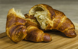 Croissants. Warm croissants prepared for a  luxurious breakfast Royalty Free Stock Photography