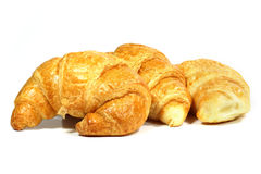 Croissants. On white background Royalty Free Stock Photography
