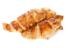 Croissants on a white background Royalty Free Stock Images