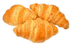 Croissants On White Stock Images