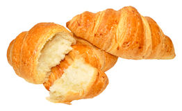 Croissants On White Royalty Free Stock Photography