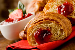 Free Croissants With Marmelade Stock Image - 19444111