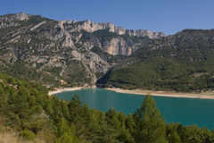 croix湖山sainte 库存图片