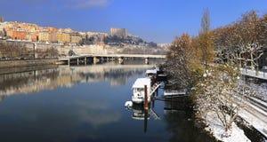 croix ποταμός της Λυών Ροδανός rousse Στοκ Φωτογραφίες