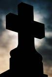 Croix. Black croix in a dark light Stock Photo