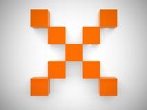 Croix abstraite des cubes Image libre de droits