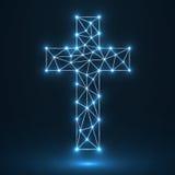 Croix abstraite Symbole chrétien Image libre de droits
