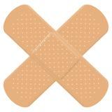 Croix adhésive de bandage Image stock