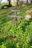 Croix anonyme en bois photo libre de droits