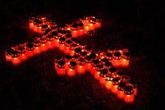 Croix ardente Images libres de droits