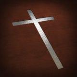 Croix argentée photos libres de droits