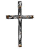 Croix argentée Image libre de droits