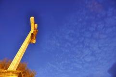 Croix au crépuscule Photo stock