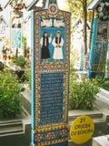 Croix au joyeux cimetière Photographie stock