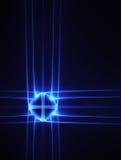 Croix au néon bleue Photographie stock libre de droits