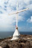 Croix avec des fleurs de rose (2) Photographie stock libre de droits