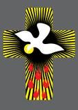 Croix avec l'illustration de Saint-Esprit illustration de vecteur