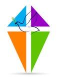 Croix avec la colombe de paix illustration libre de droits