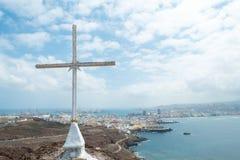Croix avec le Las Palmas (2) Images libres de droits