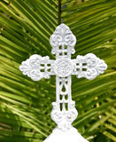 Croix blanche Photo libre de droits